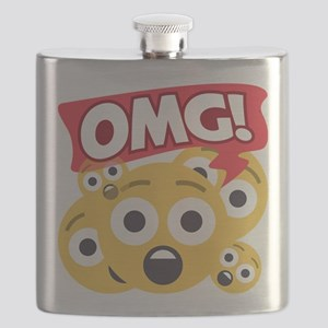 Emoji Shocked OMG Flask