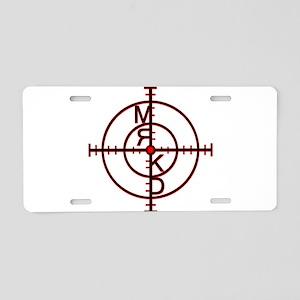 Mrkd_logo Blk Red Aluminum License Plate