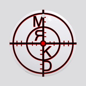Mrkd_logo Blk Red Ornament (Round)