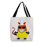Evil Candy Corn Polyester Tote Bag