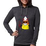 Evil Candy Corn Womens Hooded Shirt