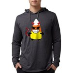 Evil Candy Corn Mens Hooded Shirt