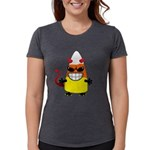 Evil Candy Corn Womens Tri-blend T-Shirt