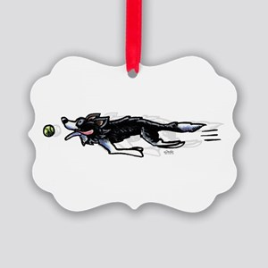 Border Collie Action Ornament