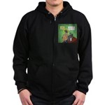 Invisible Man and Catfishing Zip Hoodie (dark)
