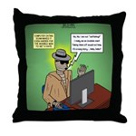 Invisible Man and Catfishing Throw Pillow