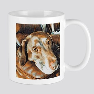 Chocolate Lab, Head on Sofa Mug