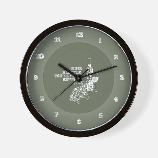 Wine Time Wall Clock