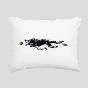 Border Collie Action Rectangular Canvas Pillow
