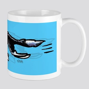 Border Collie Action Blue Mug