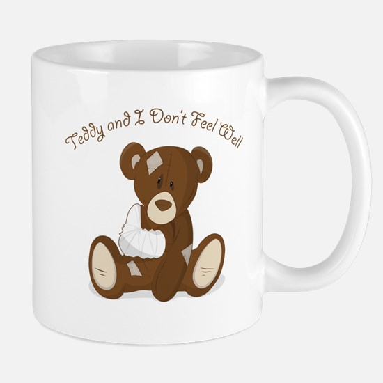 Cute Sick Teddy Infant Design Mug