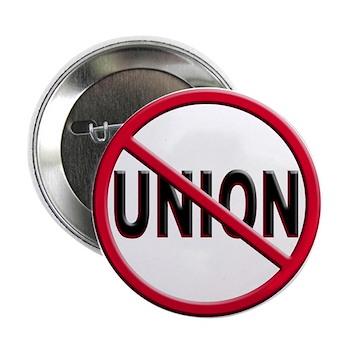"Anti-Union 2.25"" Button (100 pack)"