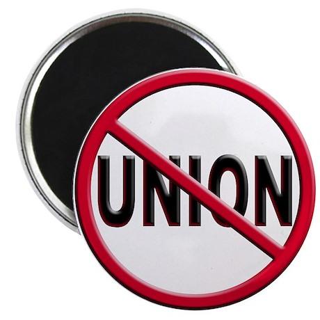 Anti-Union Round Magnet (10 pack)