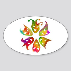Masks Sticker (Oval)