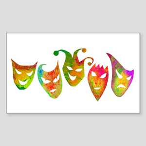 Masks Sticker (Rectangle)