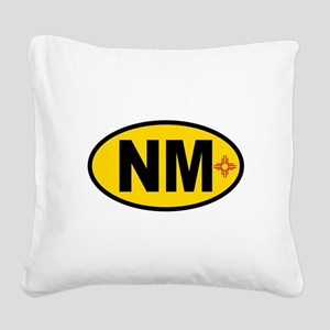 New Mexico Flag Square Canvas Pillow