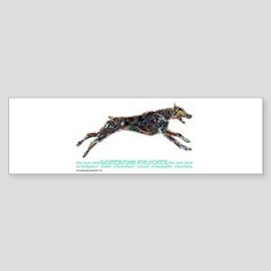 Doberman Pinscher the real deal Sticker (Bumper)