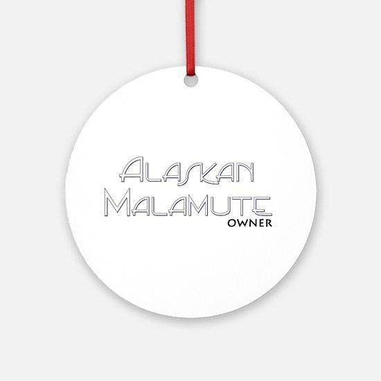 Alaskan Malamute Owner Ornament (Round)
