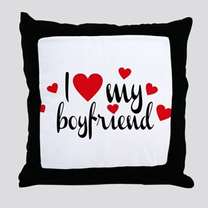 boyfriend Throw Pillow