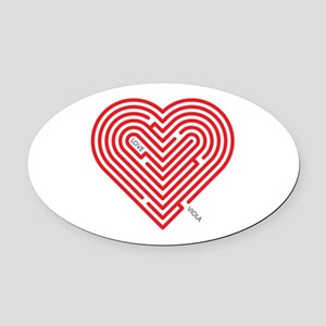 I Love Viola Oval Car Magnet