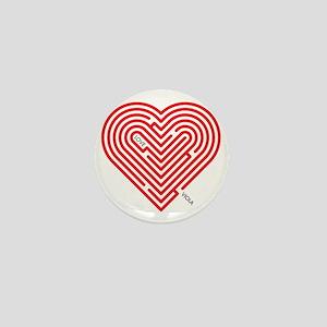 I Love Viola Mini Button