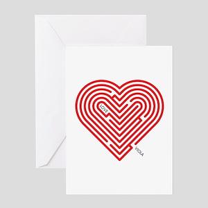 I Love Viola Greeting Card