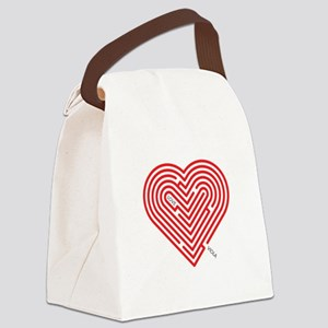 I Love Viola Canvas Lunch Bag