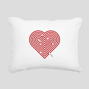 I Love Viola Rectangular Canvas Pillow