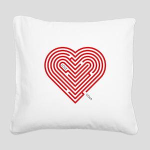 I Love Viola Square Canvas Pillow