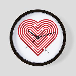 I Love Viola Wall Clock