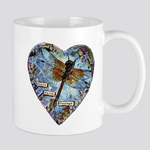 heart faith courage Mug