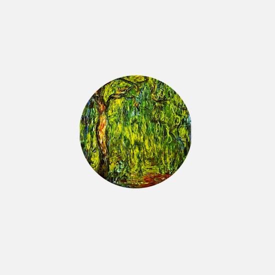 Claude Monet Weeping Willow Mini Button