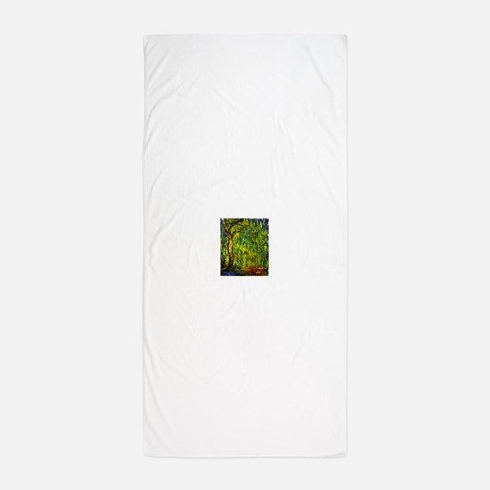 Claude Monet Weeping Willow Beach Towel