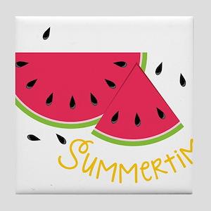 Summertime Tile Coaster