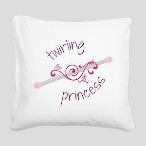 Twirling Princess Square Canvas Pillow