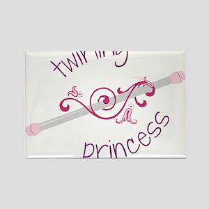 Twirling Princess Rectangle Magnet