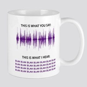 Audio Blah Blah Blah Mug