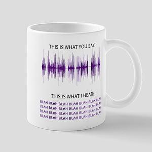 Audio Blah Blah Blah Mug