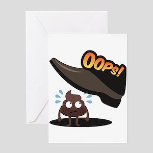 Emoji Poop Oops Greeting Card