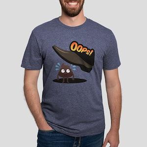 Emoji Poop Oops Mens Tri-blend T-Shirt