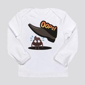 Emoji Poop Oops Long Sleeve Infant T-Shirt