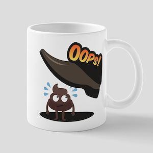 Emoji Poop Oops 11 oz Ceramic Mug