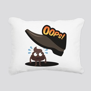 Emoji Poop Oops Rectangular Canvas Pillow