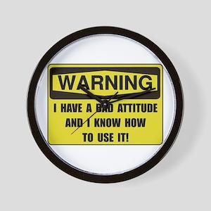 Attitude Warning Wall Clock