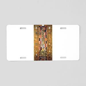 Gustav Klimt End of the Wall Aluminum License Plat
