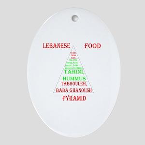 Lebanese Food Pyramid Ornament (Oval)