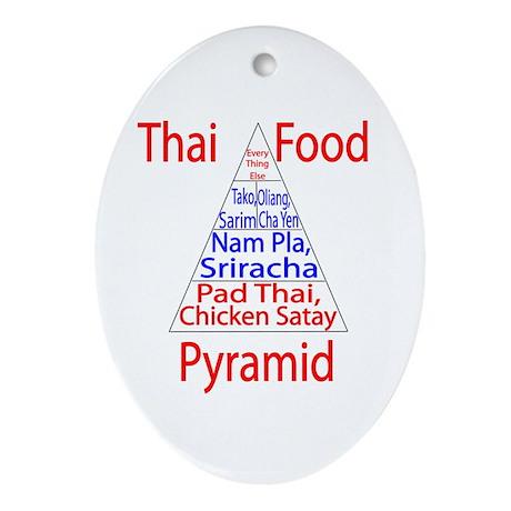 Thai Food Pyramid Ornament (Oval)