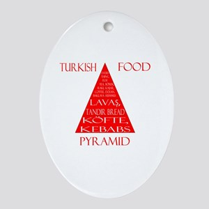 Turkish Food Pyramid Ornament (Oval)