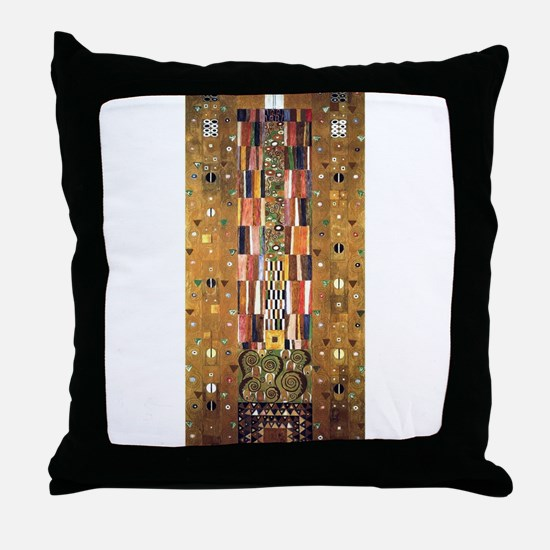 Gustav Klimt End of the Wall Throw Pillow