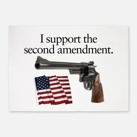 Support the second amendment 5'x7'Area Rug